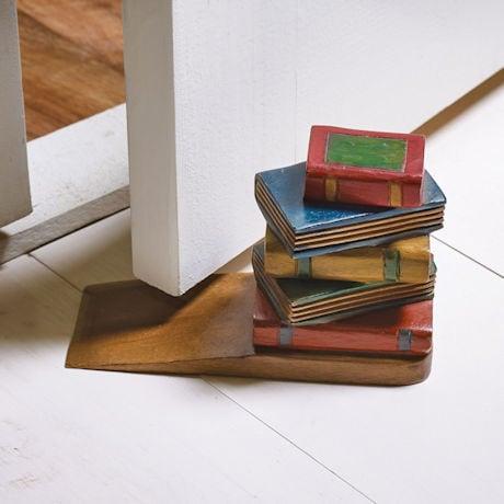 Stack of Books Doorstop