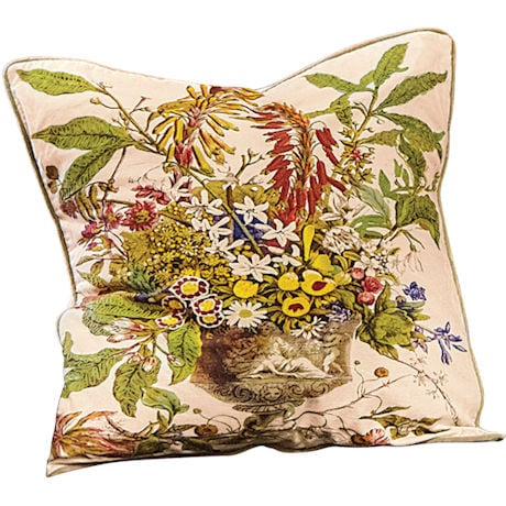 Giant Floral Embroidered Pillows