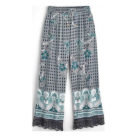Paisley Lounge Cropped Pants