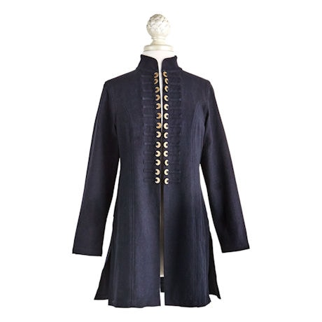 Chinese Coins Jacket - Women's Long Sleeve Open Front Fashion Coat
