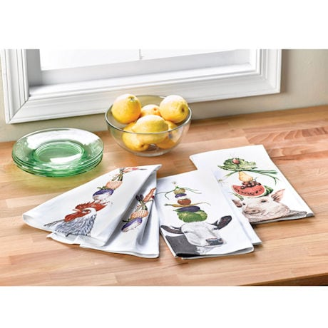 Farm Animal Kitchen Towel Set