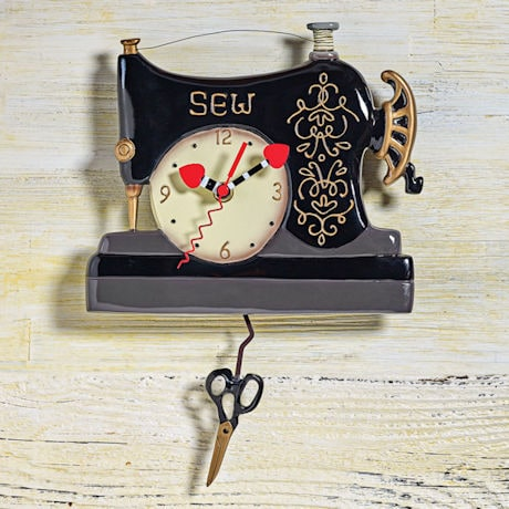 Vintage Sewing Machine Clock