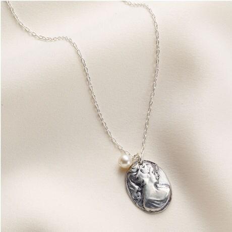 Silver Cameo Necklace