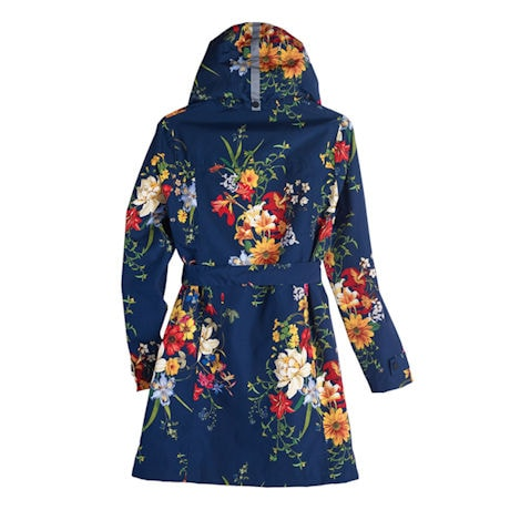 Floral Rain Jacket with Detachable Hood
