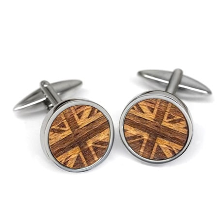 Wood Cufflinks from a Tree on Sir Winston Churchill's Estate