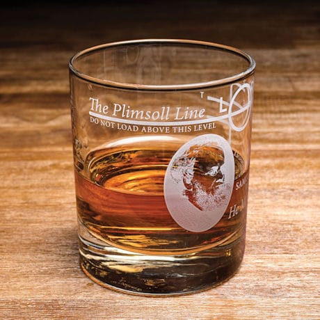 Plimsoll Line Lowball Glass