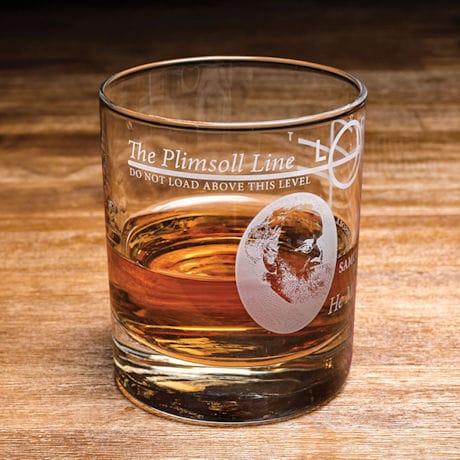 Plimsoll Line Lowball Glass