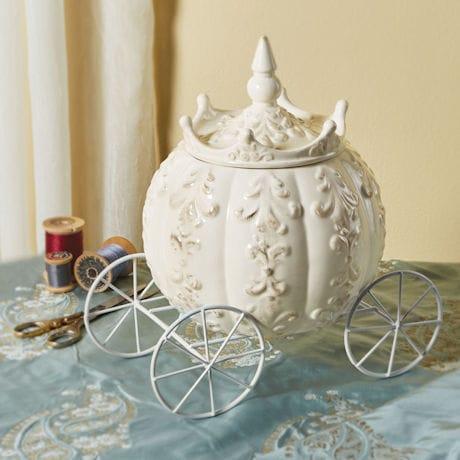 Cinderella's Carriage Stoneware Jar