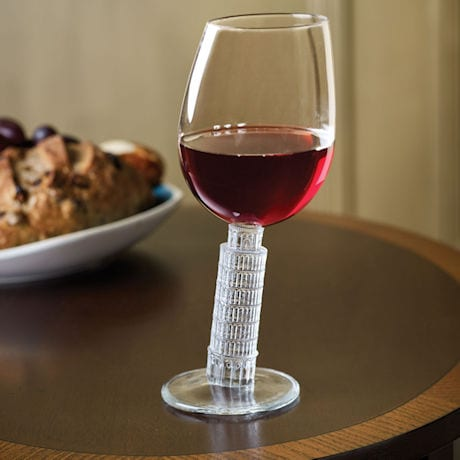 Leaning Tower of Pisa Wine Glass