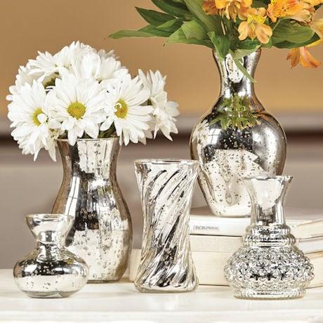 Mercury Glass Vase Set 1 Review 5 Stars Acorn Xb8377