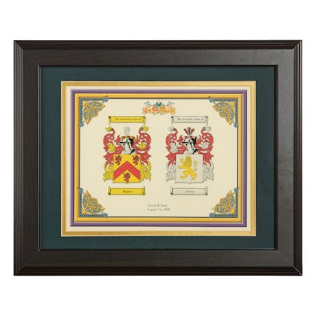 Personalized Wedding Coat Of Arms Framed Print 11 Quot X 14