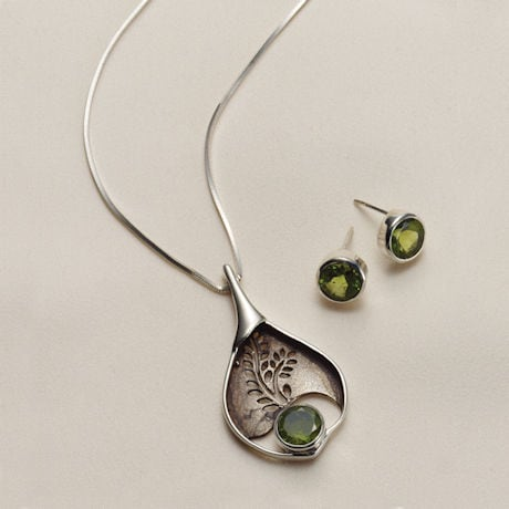 Peridot Fern Necklace