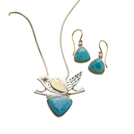 Larimar Bird Necklace