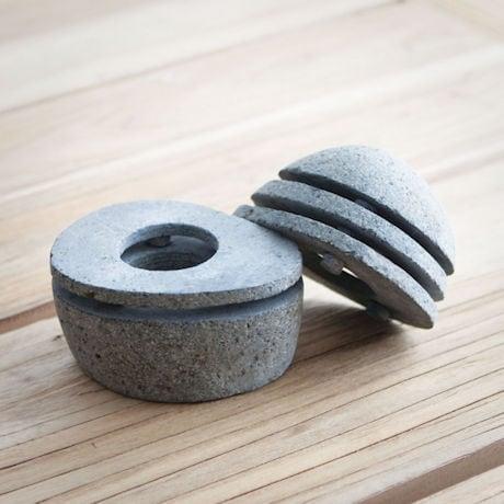 Two-Piece Stone Lantern