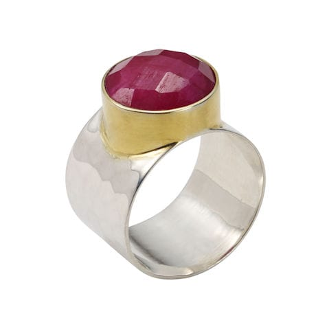 Rough-Cut Gemstone Rings