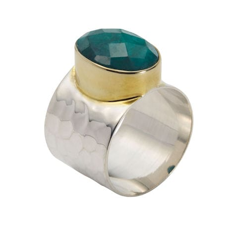 Rough-Cut Gemstone Rings