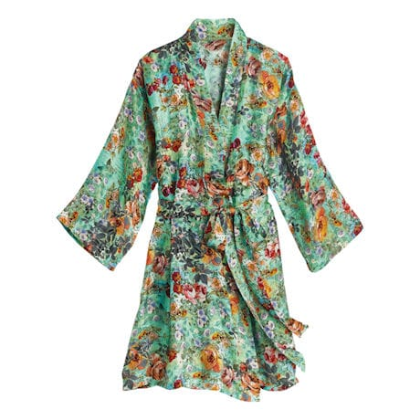Rose Garden Silk Robe