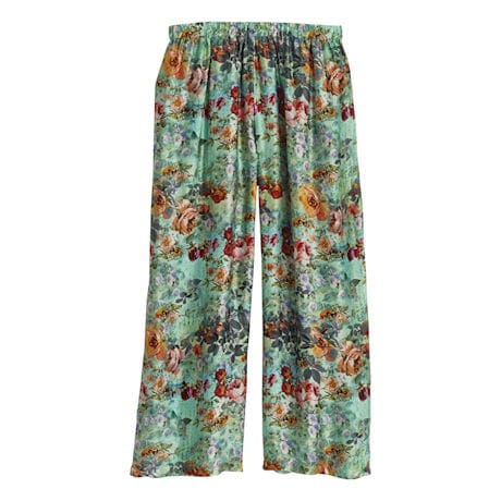 Rose Garden Silk Pajama Pants