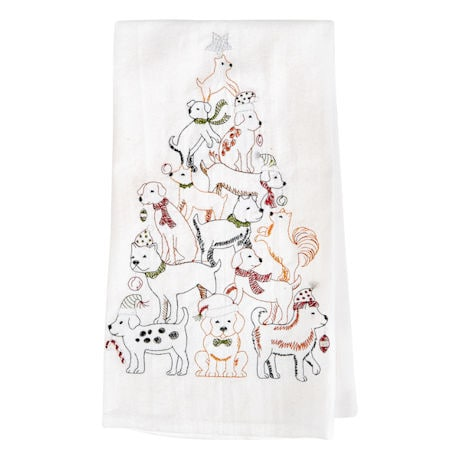 Holiday Tree Towels: 2 Dog Towels