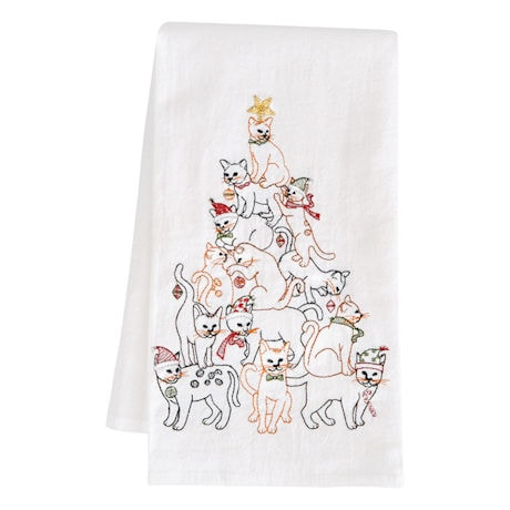 Holiday Tree Towels: 2 Cat Towels
