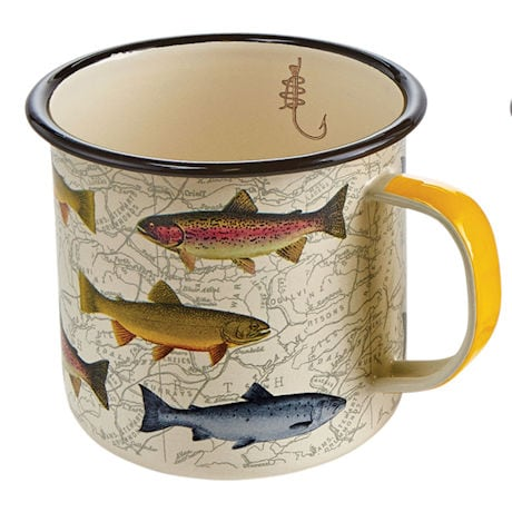 Game Fish Enamelware Mugs