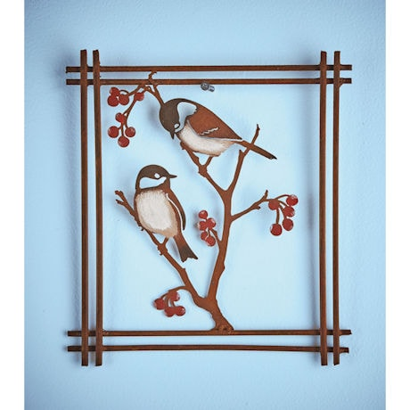 Chickadees and Berries Wall Décor