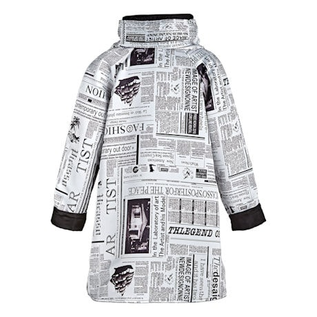 Newspaper Reversible Swing Jacket