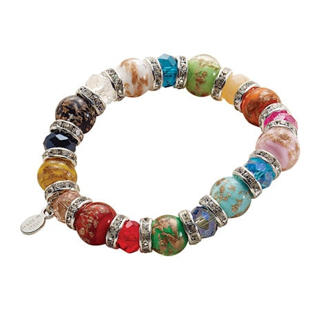 Women's Murano Glass Bead Bracelet
