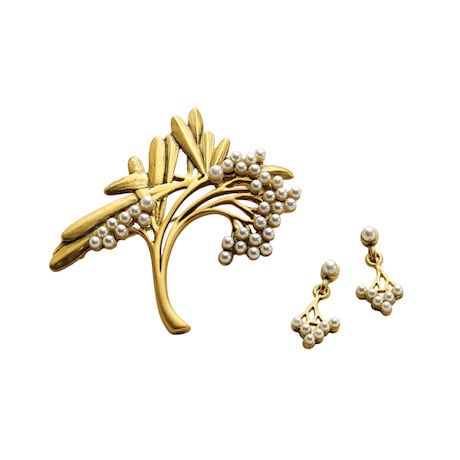 Art Nouveau Spray Brooch