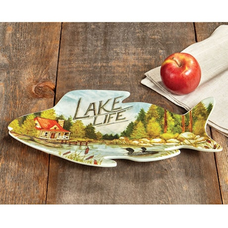 Lake Life Ceramic Tray