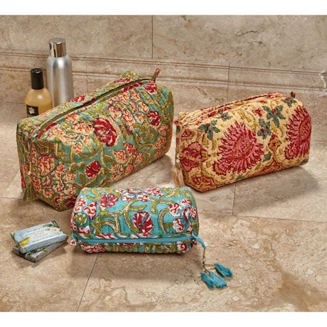 Jaipur Cosmetic Accessory Bags - Set of 3