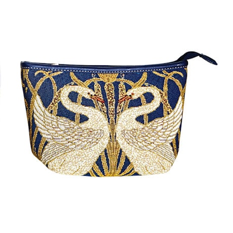 Swans Tapestry Cosmetics Pouch