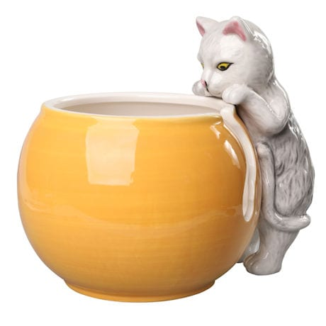 Curious Cat Yarn Bowl