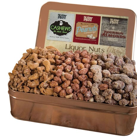 Beer & Bourbon Gift Nuts in Tin Box