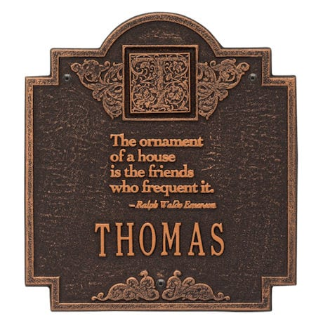 Personalized Ralph Waldo Emerson House Plaque