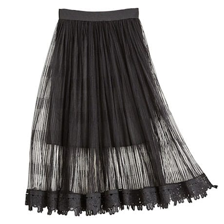Art Deco Embroidered Tulle Skirt