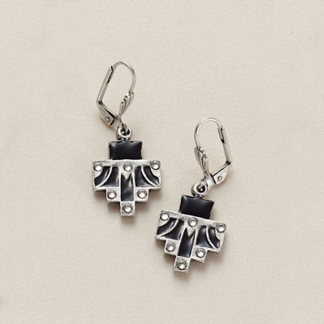 Ebony Art Deco Earrings