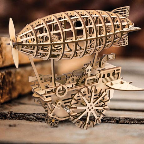 Wooden Wind-Up Airship Kit