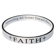 Inspirational Faith Bangle Bracelet