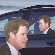 Ride With Prince Harry Car Decal - Right Facing