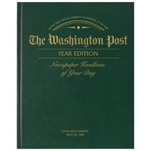 Personalized Washington Post Birthday Newspaper - A complete copy from the day you were born