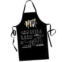 Upside Down Kitchen Hints Apron with Cooking Tips