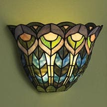 Wireless Wall Sconce - Peacock
