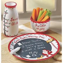 Santa's Cookie Message Plate Set