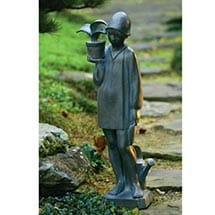 "Little Gardener Lawn Sculpture 38"" Bronze Finish by Sylvia Shaw-Judson"