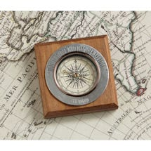 Not All Those Who Wander Are Lost Pewter Compass