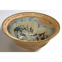 Love Is Patient Artist-Made Stoneware Wedding Bowl