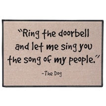 The Song of My People Doormat - Personalized