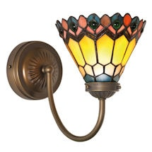 Art Glass Wall Sconces - Peacock