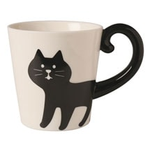 Cat Tail Mugs - Black Cat